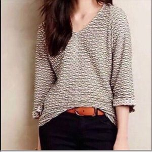 Anthropologie Postmark Geometric Top Size Small